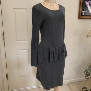 """MOSSIMO"" Grey, peplum dress"